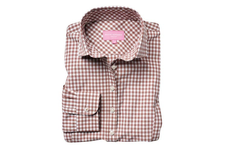 Brook Taverner Womens/Ladies Kansas Gingham Long Sleeve Shirt (Brown) (10 UK)