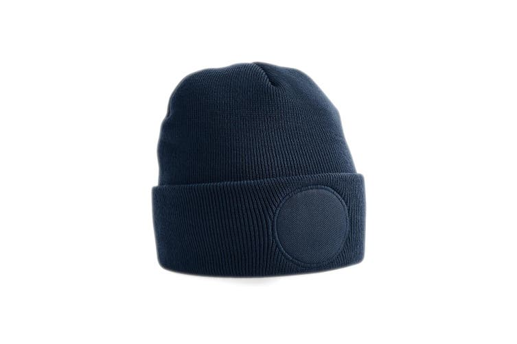 Beechfield Circular Patch Beanie (French Navy) (One Size)