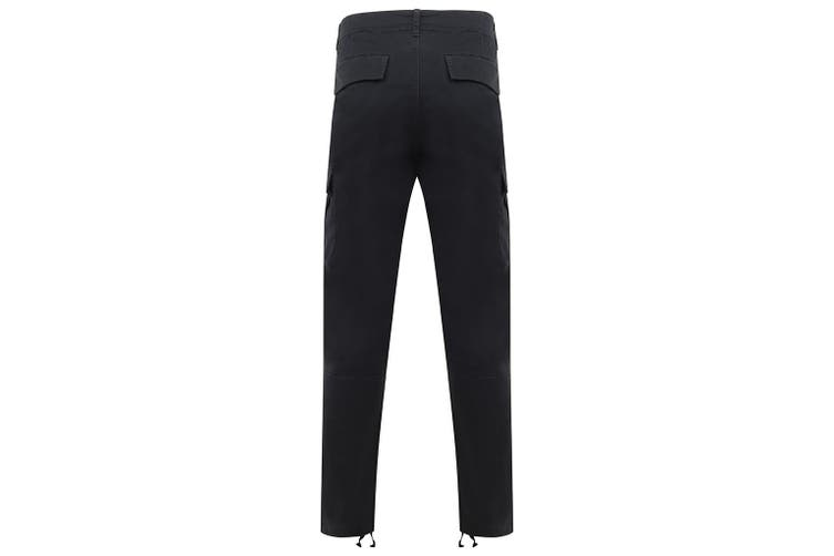 Front Row Adult Unisex Stretch Cargo Trousers (Navy) (XL)
