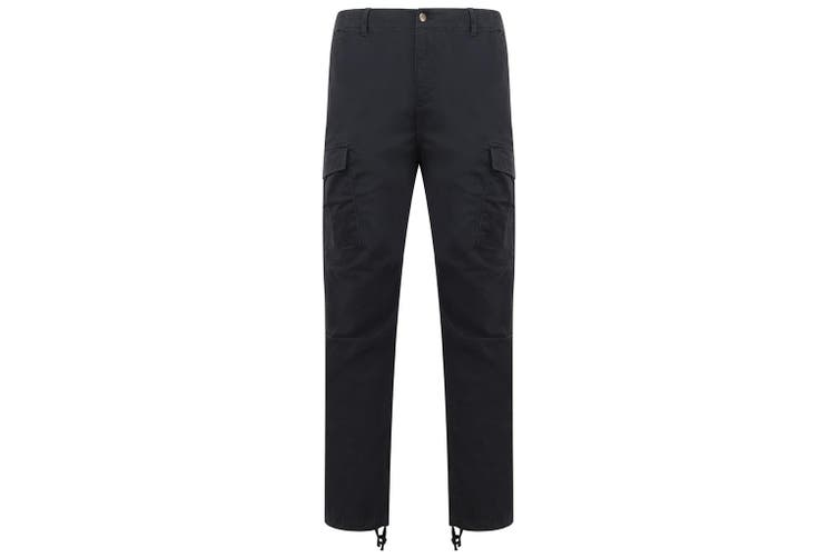 Front Row Adult Unisex Stretch Cargo Trousers (Navy) (XS)