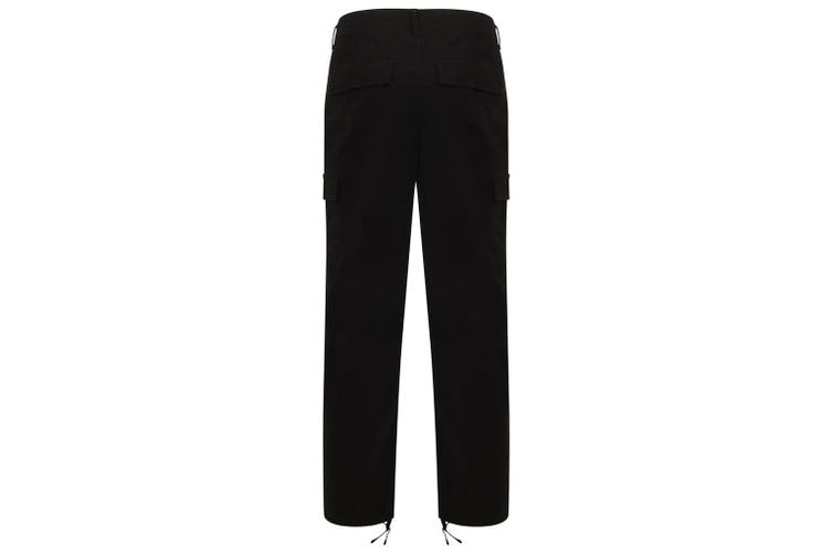 Front Row Adult Unisex Stretch Cargo Trousers (Black) (M)