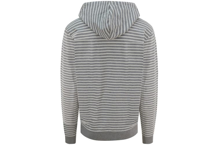 AWDis Unisex Adults Nautical Striped Hoodie (Heather Grey) (L)