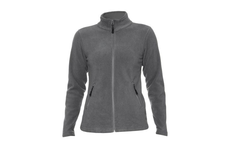 Gildan Hammer Womens/Ladies Micro Fleece Jacket (Charcoal) (M)