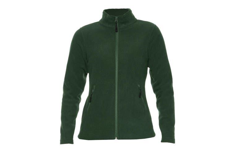 Gildan Hammer Womens/Ladies Micro Fleece Jacket (Forest Green) (S)
