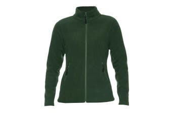 Gildan Hammer Womens/Ladies Micro Fleece Jacket (Forest Green) (XL)