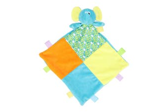 Mumbles Babies Elephant Comforter with Rattle (Multicoloured) (One Size)