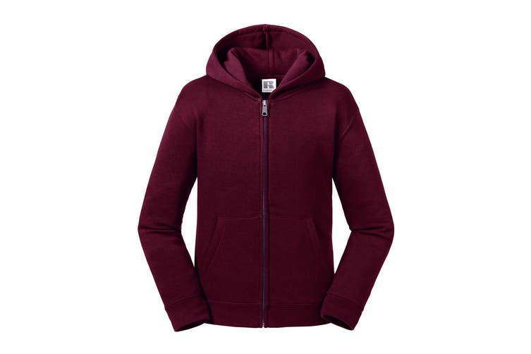 Russell Kids/Childrens Authentic Zip Hooded Sweatshirt (Burgundy) (13-14 Years)