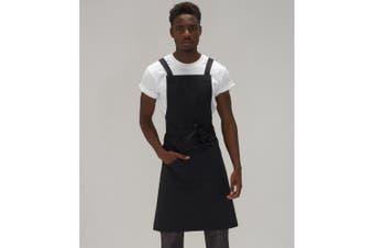 Le Chef Unisex Adults Crossover Bib Apron (Black) (One Size)
