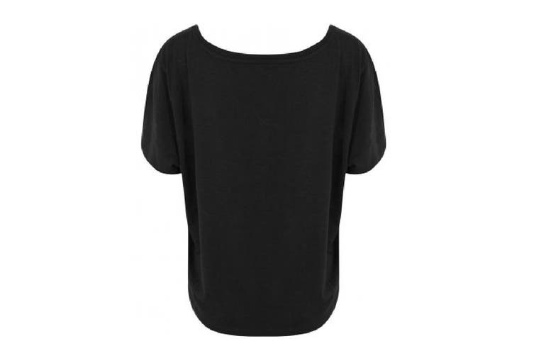 Ecologie Womens/Ladies Daintree EcoViscose Cropped T-Shirt (Jet Black) (XL)