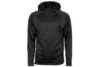 Tee Jays Mens Performance Hoodie (Black) (XXL)
