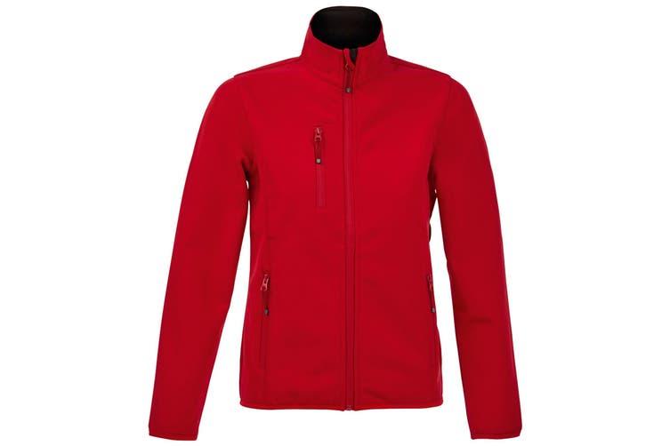 SOLS Womens/Ladies Radian Soft Shell Jacket (Pepper Red) (XL)