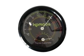 Komodo Combined Analog Thermometer And Hygrometer (Black) (One Size)