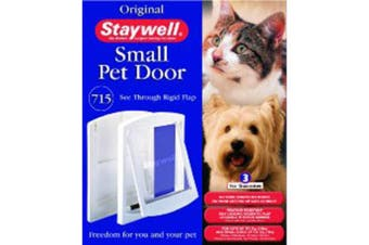 Staywell 715 Small Pet Door And Lock (White) (One Size)