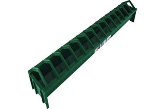 Tusk Plastic Chicken Trough Feeder (Green) (One Size)