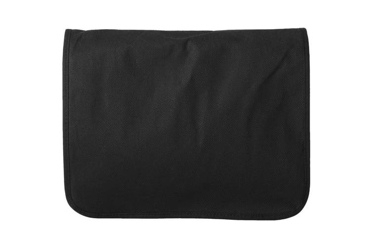Bullet Mission Non Woven Shoulder Bag (Solid Black) (36 x 8.5 x 30 cm)