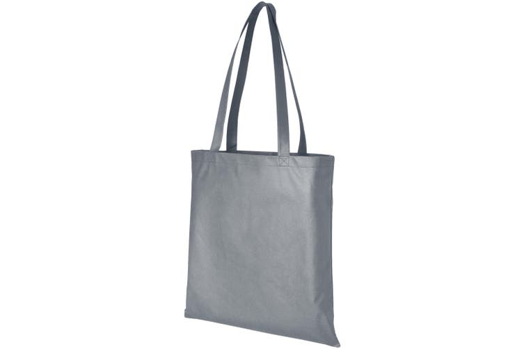 Bullet Zeus Non Woven Convention Tote (Grey) (One Size)