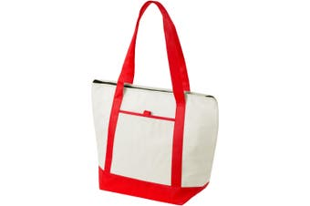 Bullet Lighthouse Non Woven Cooler Tote (Natural/Red) (44.5 x 16.5 x 33 cm)