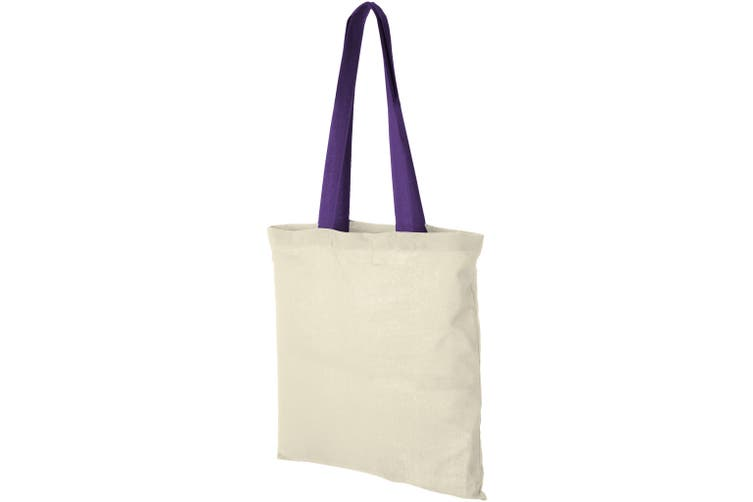 Bullet Nevada Cotton Tote (Natural/Lavender) (One Size)
