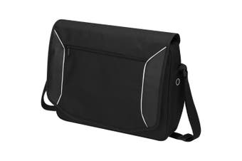 Avenue Stark Tech 15.6in Laptop Shoulder Bag (Solid Black) (40 x 6 x 35cm)