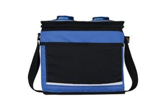 California Innovations 12-Can Drink Pocket Cooler (Royal Blue/Solid Black) (25.4 x 19 x 21.6cm)