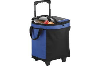 California Innovations 32-Can Rolling Cooler (Royal Blue/Solid Black) (29.5 x 20.8 x 36.5cm)
