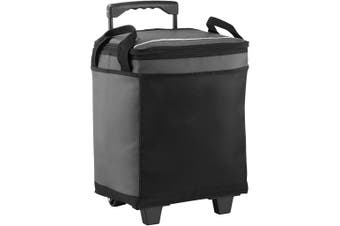 California Innovations 32-Can Rolling Cooler (Grey/Solid Black) (30.4 x 21.6 x 36.8cm)