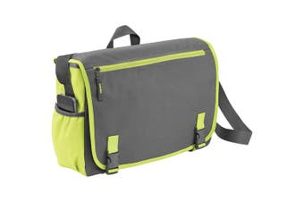 Bullet Punch 15.6in Laptop Shoulder Bag (Grey/Green) (One Size)