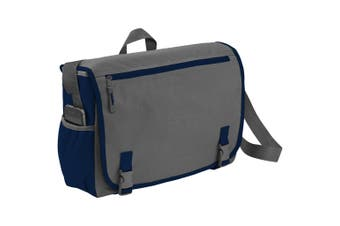 Bullet Punch 15.6in Laptop Shoulder Bag (Grey/Navy) (One Size)