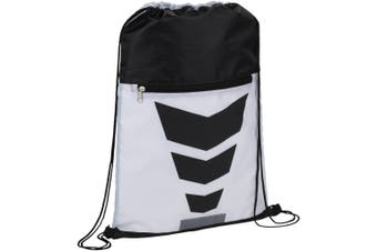 Bullet Courtside Drawstring Sports Pack (White/Solid Black) (35.5 x 48.3 cm)