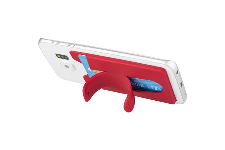 Bullet Silicone Phone Wallet With Stand (Red) (9.5 x 5.7 x 0.2cm)