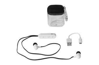 Bullet Budget Bluetooth Earbuds In Carabiner Case (Solid Black) (7 x 4.9 x 2.9 cm)