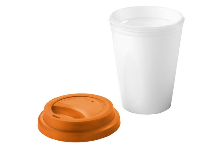 Bullet Zamzam Insulated Tumbler (White/Orange) (12.7 x 9.5 cm)