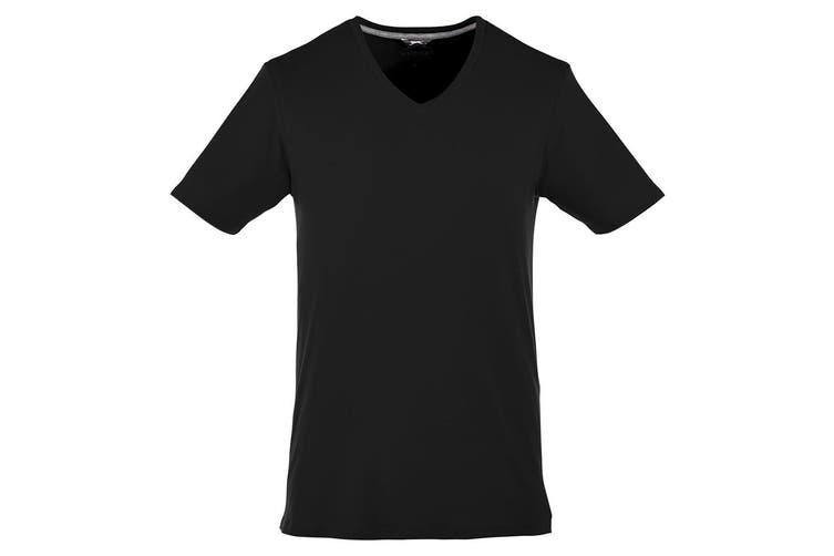 Slazenger Mens Bosey Short Sleeve T-Shirt (Solid Black) (XXXL)