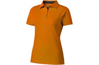 Slazenger Hacker Short Sleeve Ladies Polo (Orange/Navy) (L)