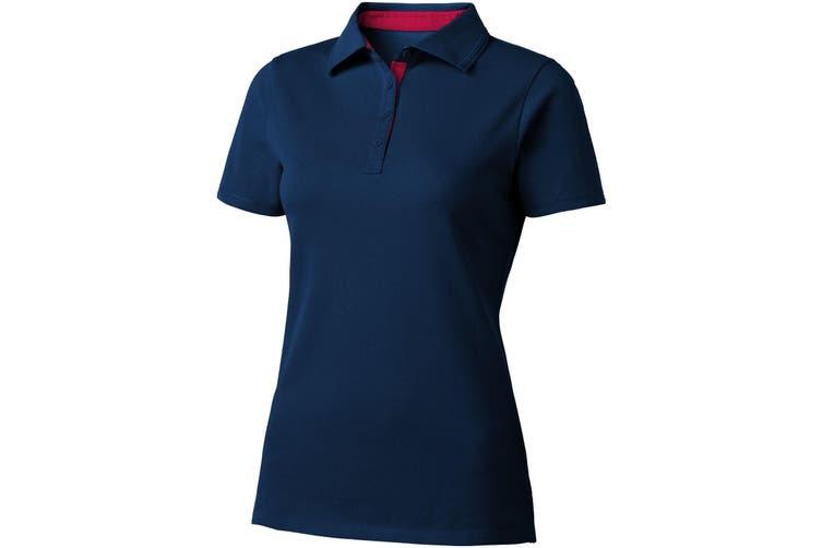 Slazenger Hacker Short Sleeve Ladies Polo (Navy/Red) (L)