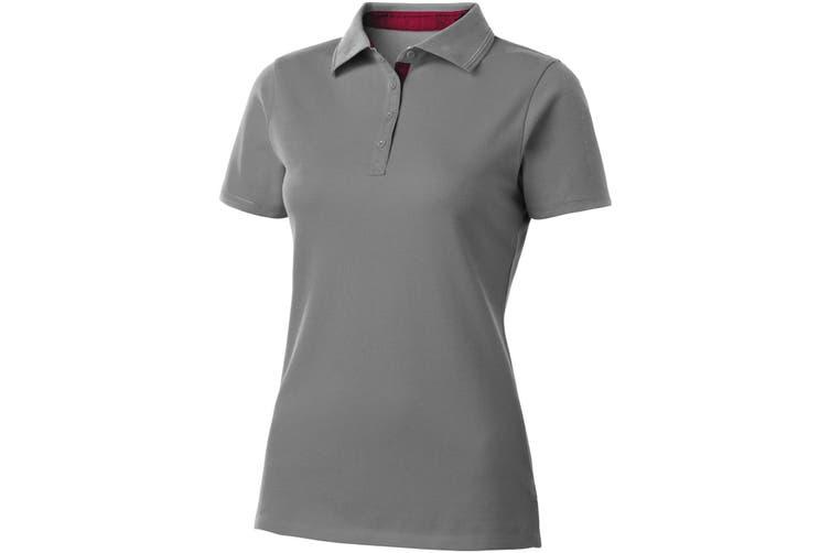 Slazenger Hacker Short Sleeve Ladies Polo (Grey/Red) (L)
