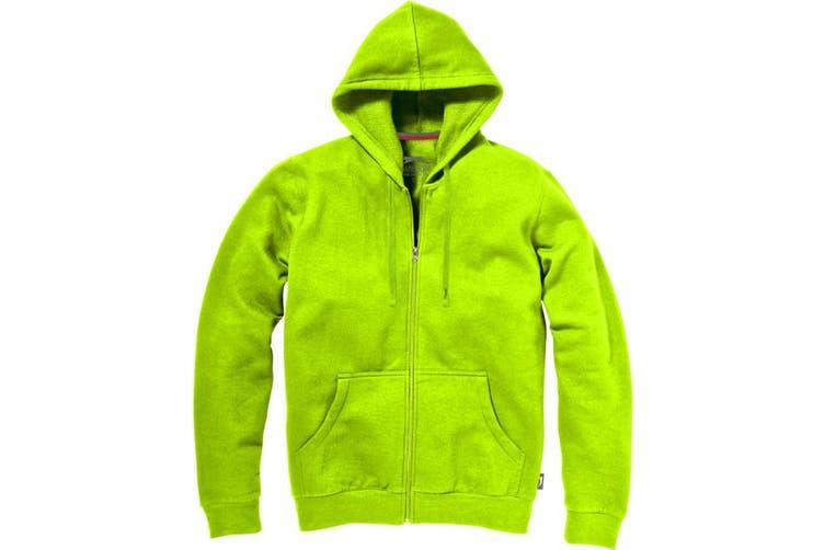 Slazenger Mens Open Full Zip Hooded Sweater (Apple Green) (L)