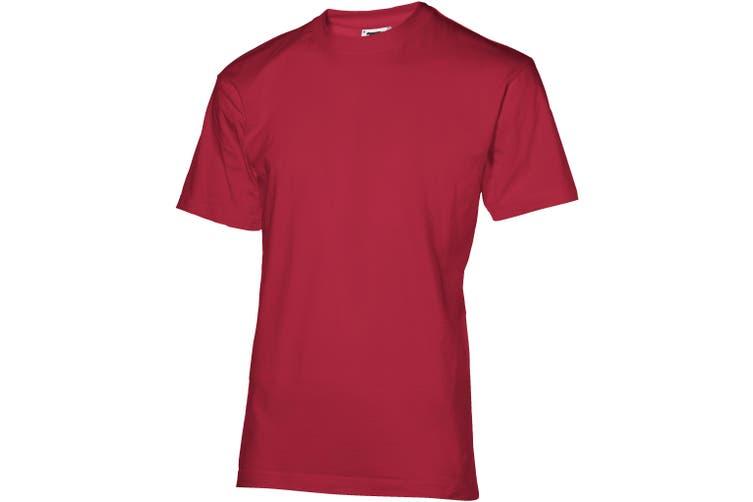 Slazenger Mens Return Ace Short Sleeve T-Shirt (Dark Red) (XL)