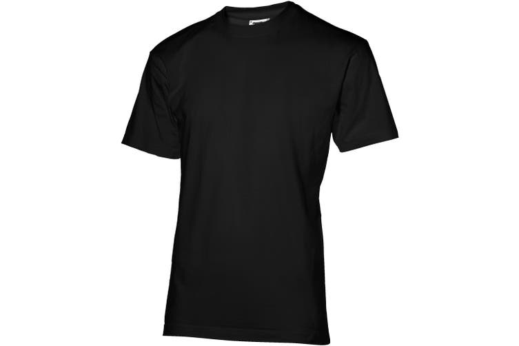 Slazenger Mens Return Ace Short Sleeve T-Shirt (Solid Black) (XXXL)