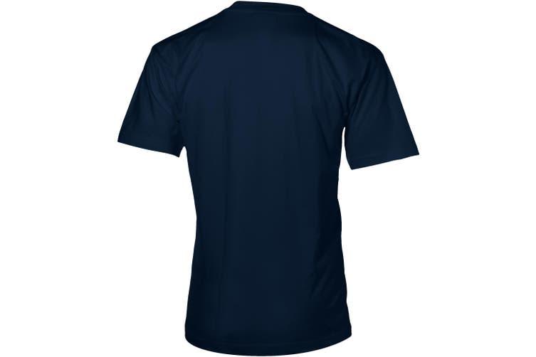 Slazenger Mens Return Ace Short Sleeve T-Shirt (Navy) (S)