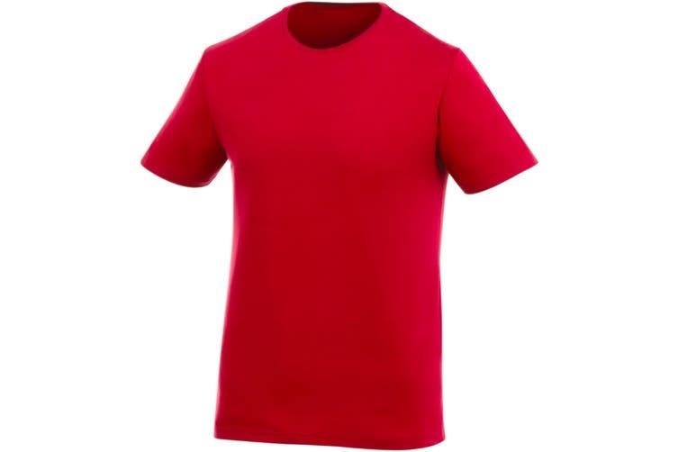 Elevate Mens Finney Short Sleeve T-Shirt (Red) (XL)