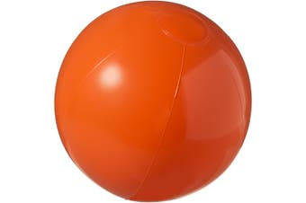 Bullet Bahamas Solid Colour Beach Ball (Orange) (25 cm)