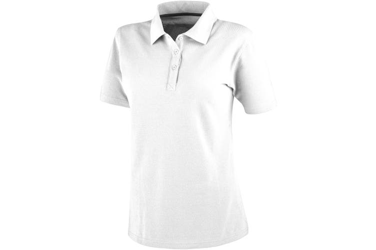 Elevate Primus Short Sleeve Ladies Polo (White) (XS)