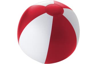 Bullet Palma Solid Beach Ball (Red/White) (25cm)