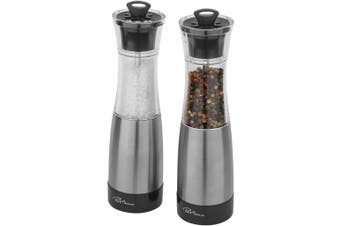 Paul Bocuse Duo Salt And Pepper Mill Set (Silver/Solid Black) (One Size)