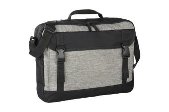 Bullet Buckle 15.6In Computer Briefcase (Grey) (One Size)