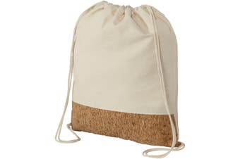 Bullet Cotton And Cork Drawstring Backpack (Natural) (One Size)