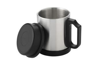 Bullet Barstow Insulated Mug (Silver/Solid Black) (One Size)
