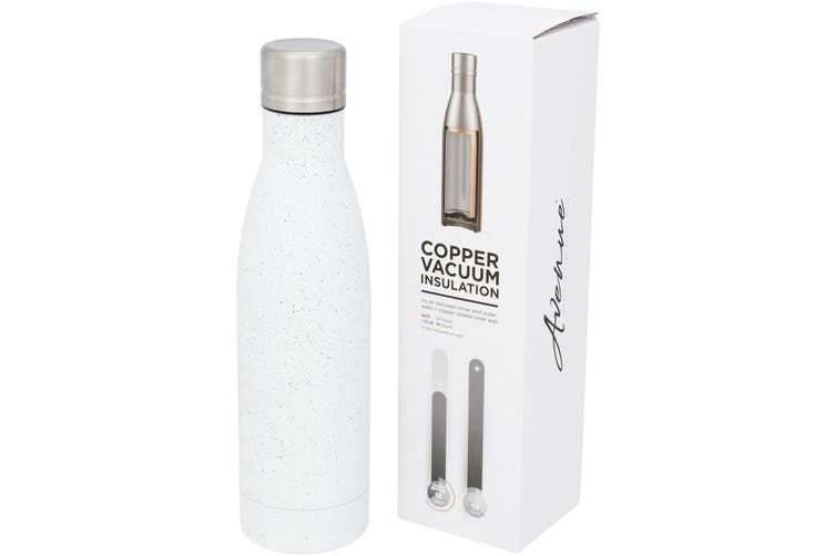 Avenue Vasa Speckled Copper Vacuum Insulated Bottle (White) (One Size)