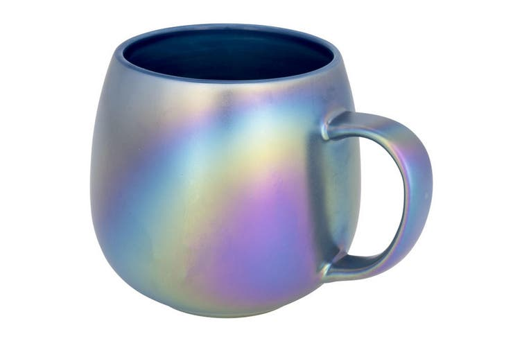 Avenue Glitz Iridescent Ceramic Mug (Blue) (One Size)